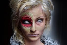 halloween zombie bride makeup zombie makeup com papel e cola halloween youtube