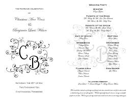 wedding bulletin templates free printable wedding program templates best business template
