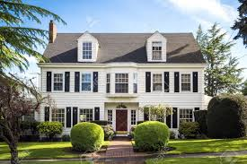 American Colonial Houses Suburban House Stock Photos U0026 Pictures Royalty Free Suburban