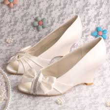 wedding shoes size 9 20 colors new arrival white satin wedge heel bridal shoes