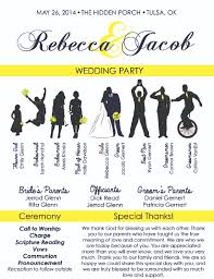 cool wedding programs the ultimate wedding design package rejoice graphics