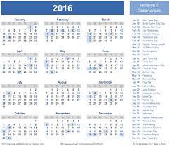 2016 calendar with holidays usa calendar picture templates