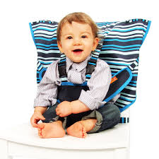 Wyoming traveling with toddlers images My little seat travel highchair hudson stripe jpg