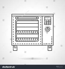 modern oven bakery equipment domestic commercial stock vector