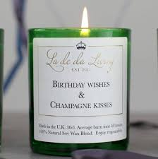 wine birthday wishes luxury birthday champagne candle by la de da living