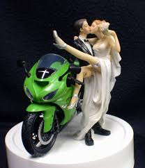 motorcycle wedding cake toppers kawasaki motorcycle bike wedding cake topper u
