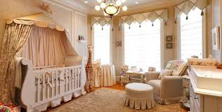 Baby Valances Baby Nursery Decor With Canopy Bed And Window Valances And Toys