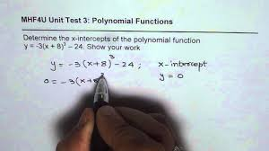 find x intercepts of a cubic polynomial function youtube