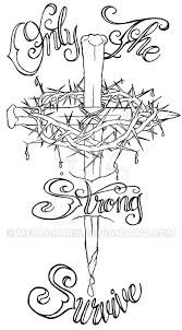 nail cross with crown of thorns by metacharis on deviantart