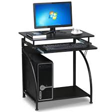 amazon com topeakmart computer desk with pullout keyboard tray