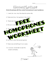 homophones worksheet squarehead teachers