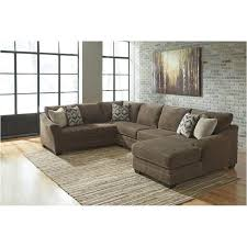 Ashley Chaise Sectional Zella Charcoal Right Facing Chaise Sectional Signature Design