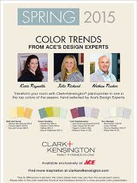 clark kensington spring 2015 color trends sneade u0027s ace home centers