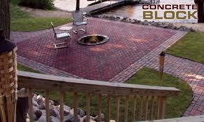 concrete patio concrete blocks concrete pavers
