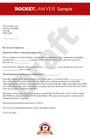 before action letter before claim letter before action template