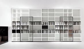 White Modern Bookcase by System Polifunzionale Tv Hi Fi Design By Piero Lissoni Porro