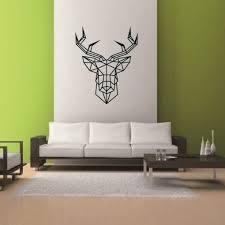 aliexpress com buy 43 35cm geometric deer head vinyl wall