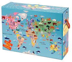 Europe Map Puzzle by Amazon Com Our World Floor Puzzle Mudpuppy Toys U0026 Games