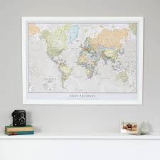 Trinidad World Map by Personalised Classic World Map By Maps International