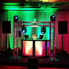 wedding dj truss setup great place to hang lights http
