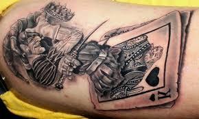 100 card tattoo designs joker evil card tattoo design real