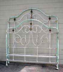 antique white iron bed white vintage iron bed country living