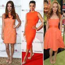 color combinations with orange summer color combinations celebrity trend and shopping popsugar
