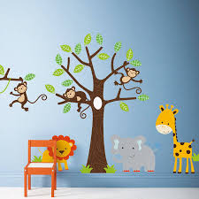 wall art stickers and decals notonthehighstreet com children s jungle wall stickers birthday gifts for children