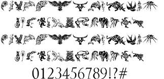 tribal animals designs font butterfly image photo