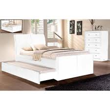 Single Bed Frame With Trundle King Single Size Lecca White Bed Frame With Trundle Buy