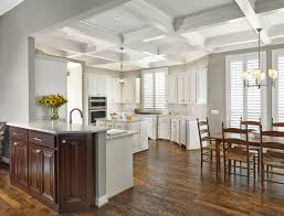 ceiling ideas kitchen ceiling snow white coffered ceiling with lights and chandelier