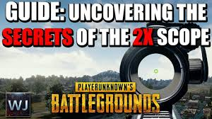 pubg 4x guide guide uncovering the secrets of the 2x scope in playerunknown s
