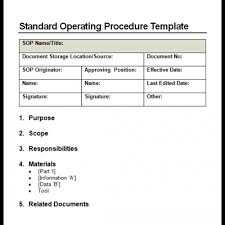 free manual template word 9 standard operating procedure sop templates word excel pdf