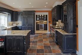 Matte Black Kitchen Cabinets Kitchens With Black Cabinet Distressed Black Kitchen Cabinets