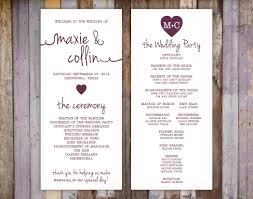 printing wedding programs wedding printing q s printing and design
