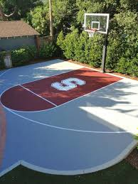 nice backyard concrete slab for playing ball picture with