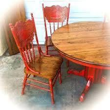 Oak Dining Room Table And Chairs Kitchen Chairs Farmhouse Kitchen Table And Chairs W Leaf Oak