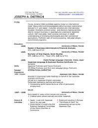 ms word format resume