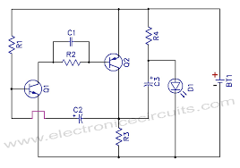 1 5v one battery led light flasher circuit diagram electronic