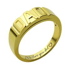 family rings for wholesale gold color personalized men s ring handmade family