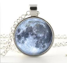 blue moon necklace images Full moon necklace ebay JPG