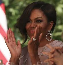 Obama Wedding Ring by Michelle Obama Trades Her Engagement Ring For Some Very Glitzy