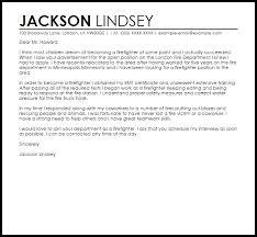 sample cover letter for a firefighter job cover letters livecareer
