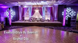 wedding setup weddings instyle by beenish xtrahot djs atlanta indian wedding