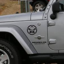 jeep accessories amazon com star punisher style jeep wrangler fender decals