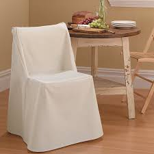 Linen Chair Slipcover Sure Fit Cotton Duck Box Cushion Dining Chair Slipcover U0026 Reviews