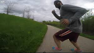 Challenge Fail Liveleak Cyclist Collides With Headphone Wearing Runner Road Cc