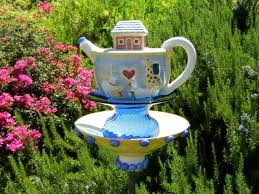 Upcycled Garden Decor 196 Best Garden Decor Whimsical Bird Feeders And More Images On