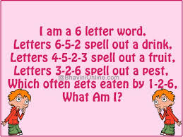 6 letter word puzzle format
