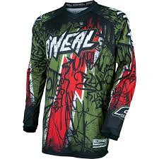 one motocross gear oneal element 2017 vandal motocross jersey o u0027neal off road racing